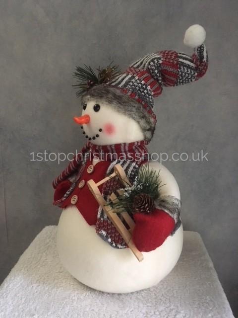 Snowman Plush Figurine Christmas Character XM2384